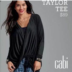 CAbi Taylor Black Wrap/ Blouse Style 3119, Size M